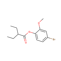 2-Ethylbutyric acid, 4-bromo-2-methoxyphenyl ester