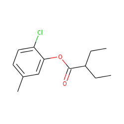 2-Ethylbutyric acid, 2-chloro-5-methylphenyl ester