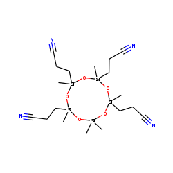 2,2,4,6,8,10-hexamethyl-4,6,8,10-tetra(2-cyanoethyl)-[1,3,5,7,9,2,4,6,8,10]cyclopentasiloxane
