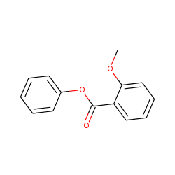 O-methoxybenzoic acid, phenyl ester