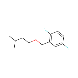 2,5-Difluorobenzyl alcohol, 3-methylbutyl ester
