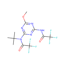 N-tert-Butyl-N,N'-bis(trifluoroacetyl)-6-methoxy-1,3,5-triazine-2,4-diamine