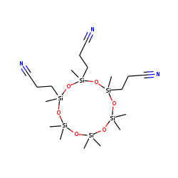 2,2,4,4,6,8,8,10,12-nonamethyl-8,10,12-tri(2-cyanoethyl)-[1,3,5,7,9,11,2,4,6,8,10,12]cyclohexasiloxane