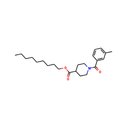 Isonipecotic acid, N-(3-methylbenzoyl)-, nonyl ester