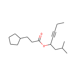 3-Cyclopentylpropionic acid, 2-methyloct-5-yn-4-yl ester