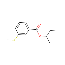 Benzoic acid, 3-(methylthio)-, 1-methylpropyl ester