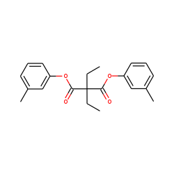 Diethylmalonic acid, di(3-methylphenyl) ester