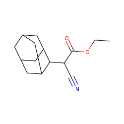 Tricyclo[3.3.1.13,7]decane-2-acetic acid, «alpha»-cyano-ethyl ester