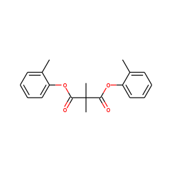 Dimethylmalonic acid, di(2-methylphenyl) ester