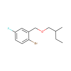 2-Bromo-5-fluorobenzyl alcohol, 2-methylbutyl ether