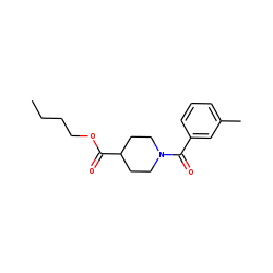 Isonipecotic acid, N-(3-methylbenzoyl)-, butyl ester
