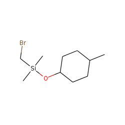 trans-4-Methylcyclohexanol, bromomethyldimethylsilyl ether