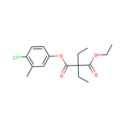 Diethylmalonic acid, 4-chloro-3-methylphenyl ethyl ester