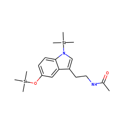 Indole, 3-(2-acetaminoethyl), 5-hydroxy, TMS