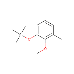 2-Methoxy-3-methylphenol, TMS
