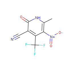 Nicotinonitrile, 2-hydroxy-6-methyl-5-nitro-4-(trifluoromethyl)-, (keto form)