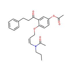 Propafenone hydroxy - H2O, acetylated