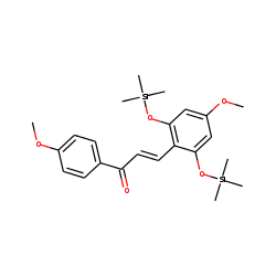 Chalcone, 2',6'-dihydroxy-4,4'-dimethoxy, bis-TMS