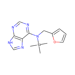 N-(2-Furylmethyl)-N-trimethylsilyl-7H-purin-6-amine