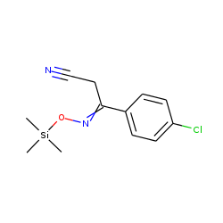 3-(4-Chlorophenyl)-3-trimethylsilyloxyiminopropanenitrile