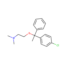 Ethylamine, 2-[1-(p-chlorophenyl)-1-phenylethoxy]-n,n-dimethyl-