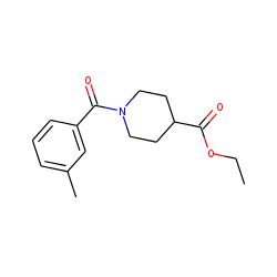 Isonipecotic acid, N-(3-methylbenzoyl)-, ethyl ester
