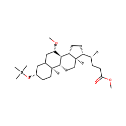 3«beta»-Hydroxy-7«beta»-methoxycholanic acid, methyl ester, TMS