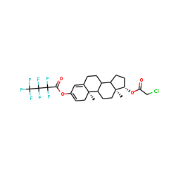 Testosterone, 3-HFB, 17.beta.-monochloacetate
