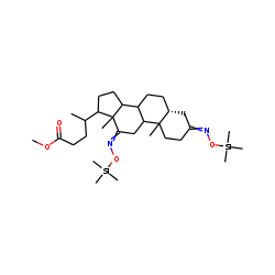 Methyl 5-.beta.-cholan-3,12-dione-24-oate, oxime, TMS