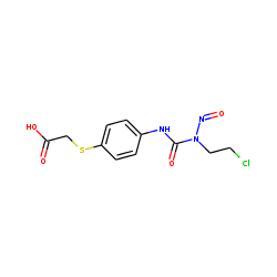 Acetic acid, [p-[3-(2-chloroethyl)-3-nitrosoureido]phenylthio]-