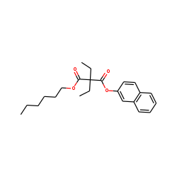 Diethylmalonic acid, hexyl 2-naphthyl ester