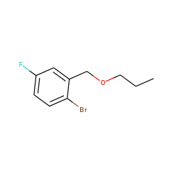 2-Bromo-5-fluorobenzyl alcohol, n-propyl ether
