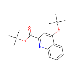 2-Quinolinecarboxylic acid, 4-[(trimethylsilyl)oxy]-, trimethylsilyl ester