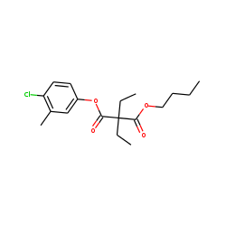 Diethylmalonic acid, butyl 4-chloro-3-methylphenyl ester