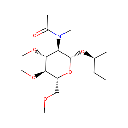 (S)-2-Butyl 2-deoxy-3,4,6-tri-O-methyl-2-(N-methylacetamido)-[3-o-glucopyranoside