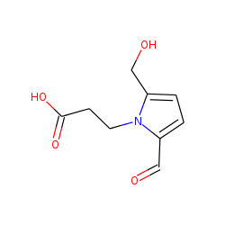 Propanoic acid, 3-[N-(2-formyl-5-(hydroxymethyl)-1-pyrrolyl)]
