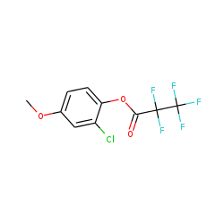 2-Chloro-4-methoxyphenol, pentafluoropropionate