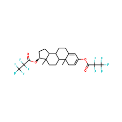 Testosterone, 3,17.beta.-bispentafluoropropionate