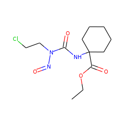 Cyclohexanecarboxylic acid, 1-[3-(2-chloroethyl)-3-nitrosoureido]-, ethyl ester