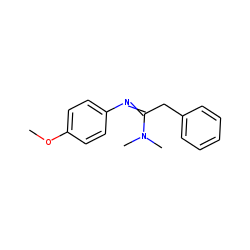 N,N-Dimethyl-2-phenyl-N'-(4-methoxyphenyl)-acetamidine