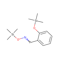 Benzaldehyde, 2-hydroxy, oxime, bis-TMS