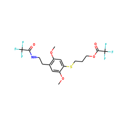 N-Trifluoroacetyl-2,5-dimethoxy-4-trifluoroacetoxypropylthio-«beta»-phenethylamine