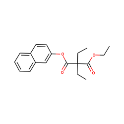 Diethylmalonic acid, ethyl 2-naphthyl ester