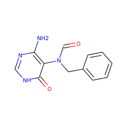 Formamide, n-(6-amino-3,4-dihydro-4-oxo-5-pyrimidinyl)-n-benzyl-