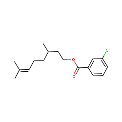 3,7-Dimethyloct-6-enyl 3-chlorobenzoate