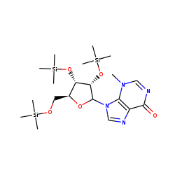 1-Methylhypoxanthine riboside, TMS