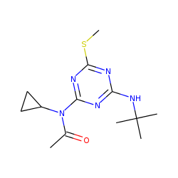 N-tert-Butyl-N'-acetyl-N'-cyclopropyl-6-methylsulfanyl-1,3,5-triazine-2,4-diamine