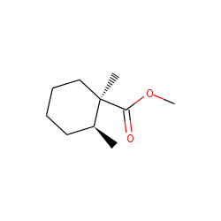 cis-1-carbomethoxy-1,2-dimethylcyclohexane