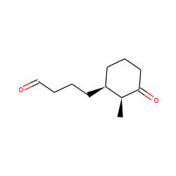 Cyclohexanebutanal, 2-methyl-3-oxo-, cis-