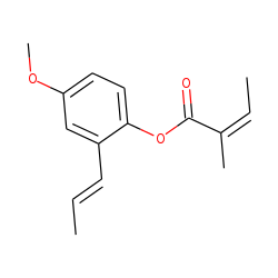 4-Methoxy-2-(1-propenyl)-phenyl angelate
